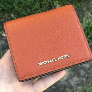 Michael Kors Mercer Card Case Leather Orange